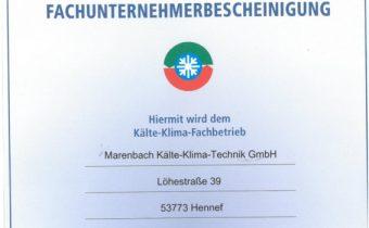 Mitgliedsbescheinigung des VDKF